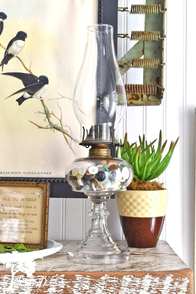 Spring decorating home tour by Lora B, featured on DIY Salvaged Junk Projects 567 on Funky Junk!