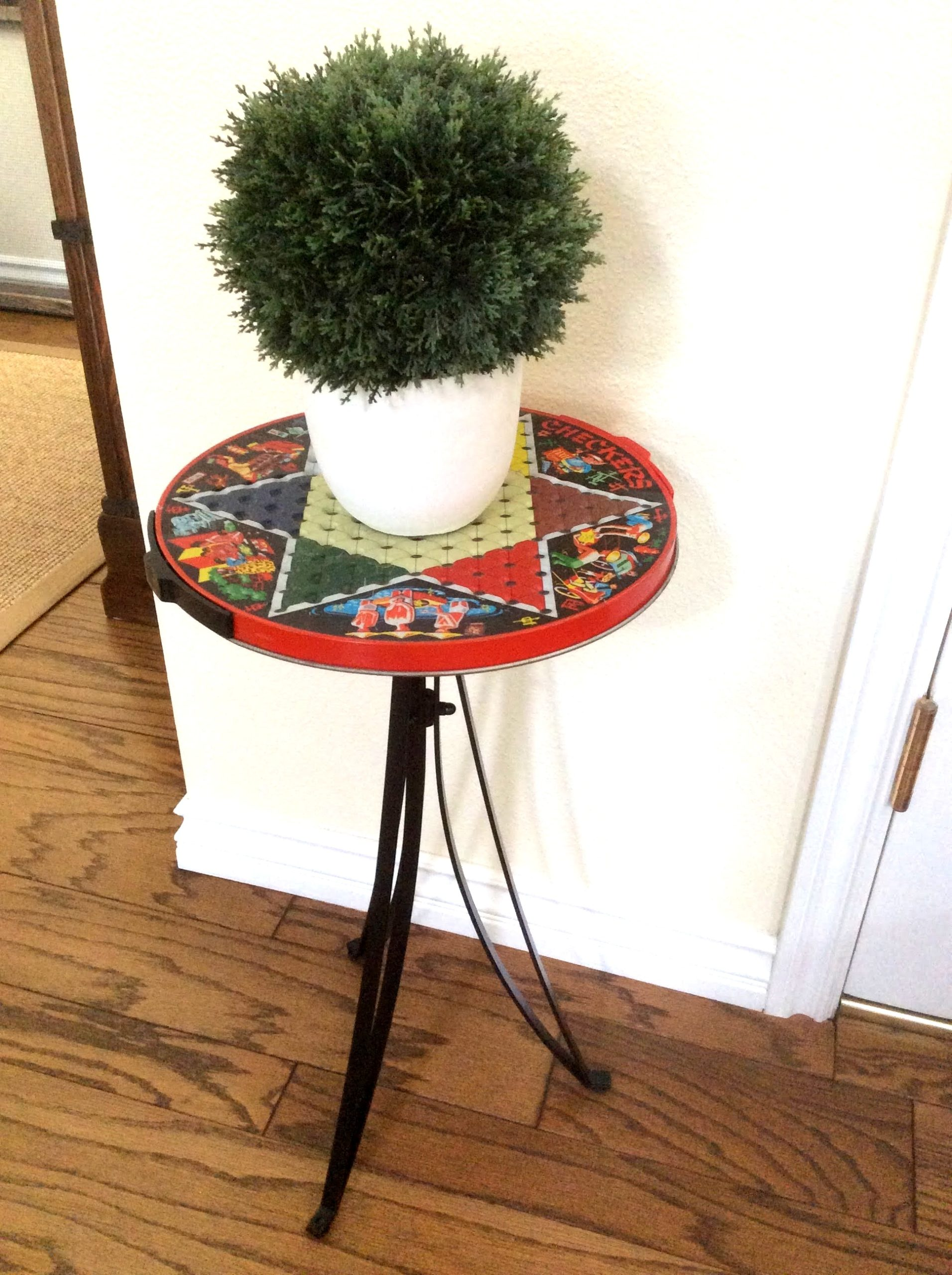 Chinese checkers game board table by Fresh Vintage By Lisa S, featured on DIY Salvaged Junk Projects 569 on Funky Junk!