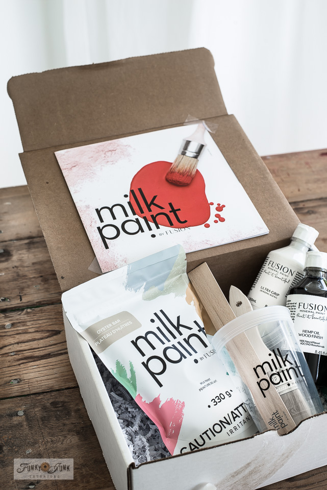 Learn all about Milk Paint by Fusion! View all the colours, how to prep, paint, top coat with milk painted projects to make! Click to read full tutorial including helpful video how-to sharing milk paint steps!