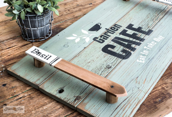 building a garden-themed tray with garden stake handles-025