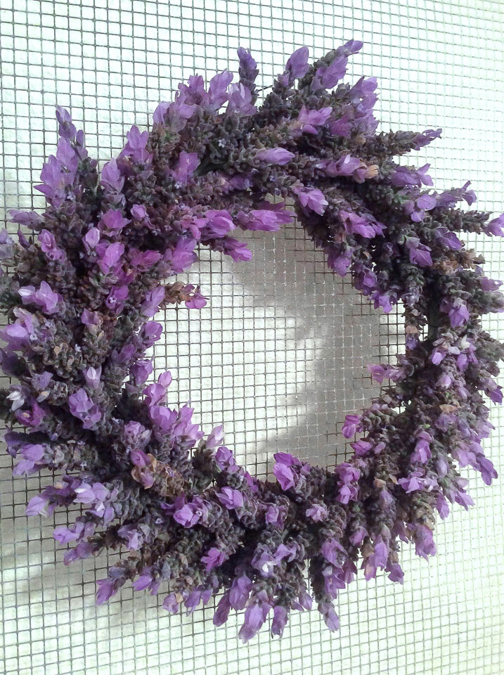Fresh lavender wreath DIY by Fresh Vintage by Lisa S, featured on DIY Salvaged Junk Projects 575 on Funky Junk!