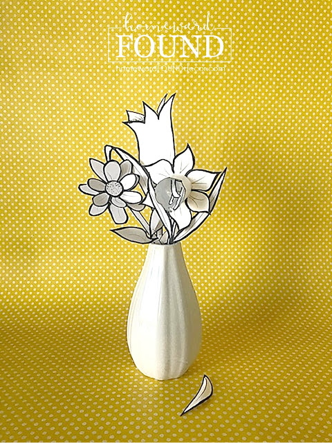 Paper flower bouquet by Homeward Found, featured on DIY Salvaged Junk Projects 572 on Funky Junk!