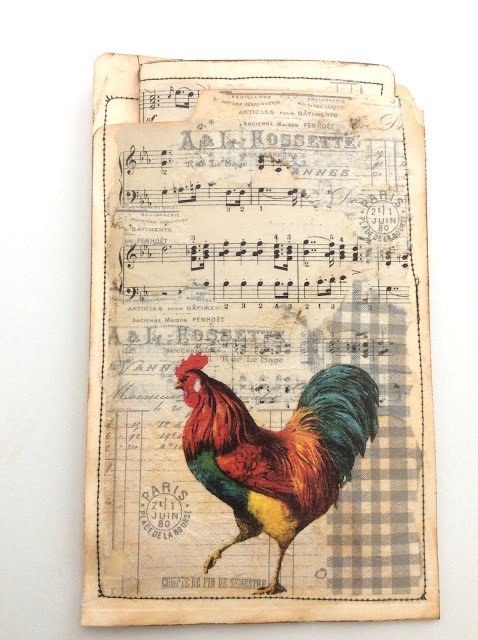File folder pocket journal by Fresh Vintage By Lisa S, featured on DIY Salvaged Junk Projects 572 on Funky Junk!