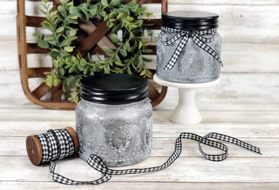 faux farmhouse tin candle mason jars Creatively Beth