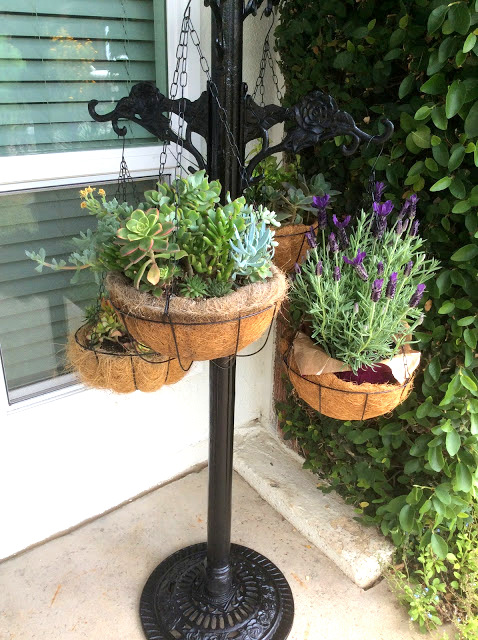 Cast iron plant hanger stand by Fresh Vintage by Lisa S, featured on New Upcycled Projects to make 579 on Funky Junk!
