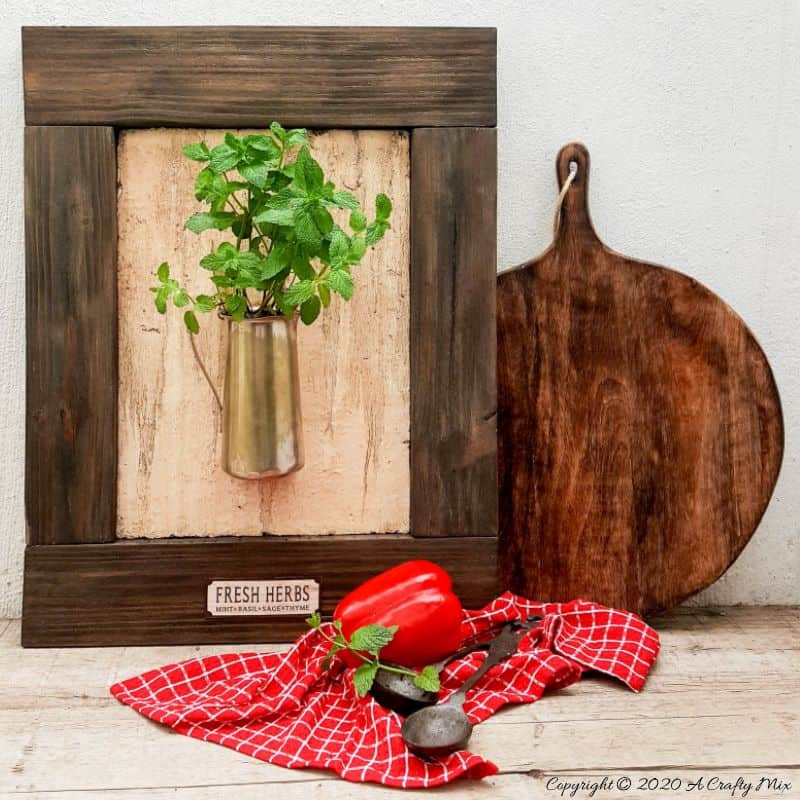Framed herb planter by A Crafty Mix, featured on New Upcycled Projects to Make 583 on Funky Junk!