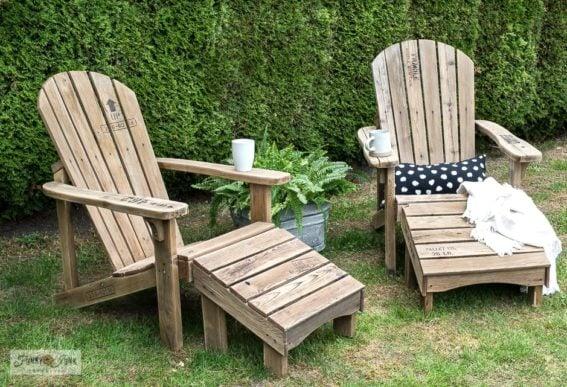 adirondack chairs makeover pallet style stencils pressure washing