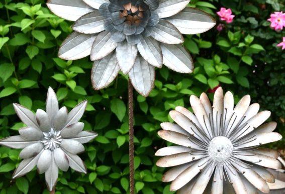 aluminum flowers garden art