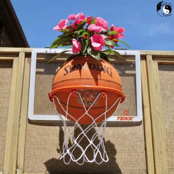 Plantador de basquete por Birdz of a Feather, destaque em Novos Projetos Upcycled para Fazer 587!