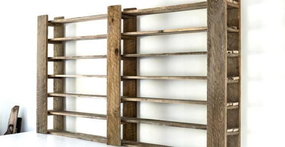 adjustable wood paint shelves Funky Junk Interiors