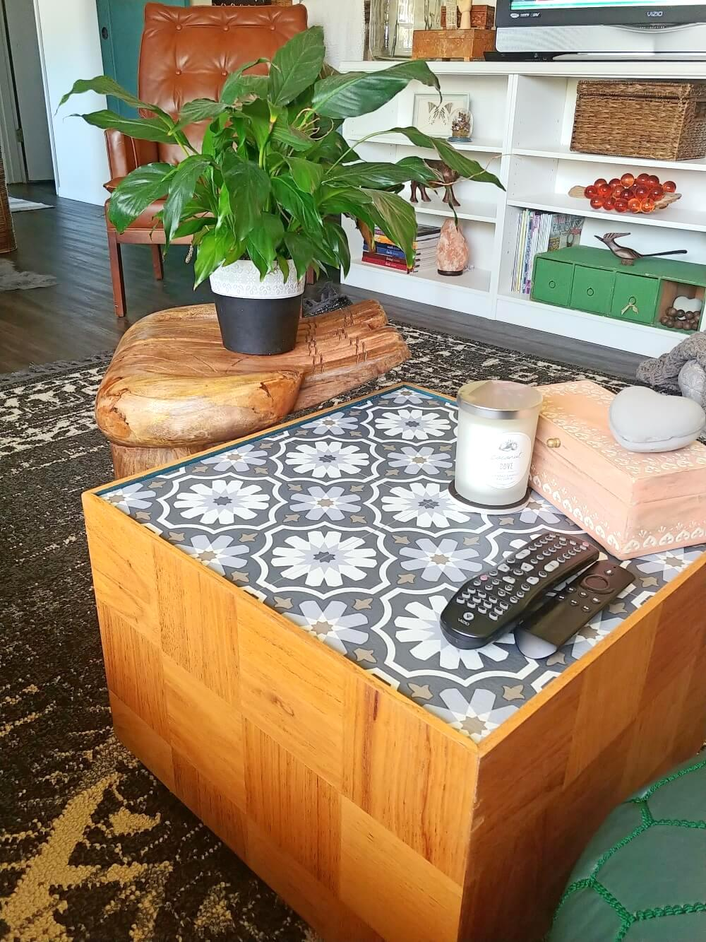 Mid-century modern coffee table by Little Vintage Cottage, featured on New Upcycled Projects to Make 586!