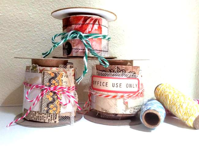 Paper snippet roll by Fresh Vintage by Lisa S, featured on New Upcycled Projects to Make 588!