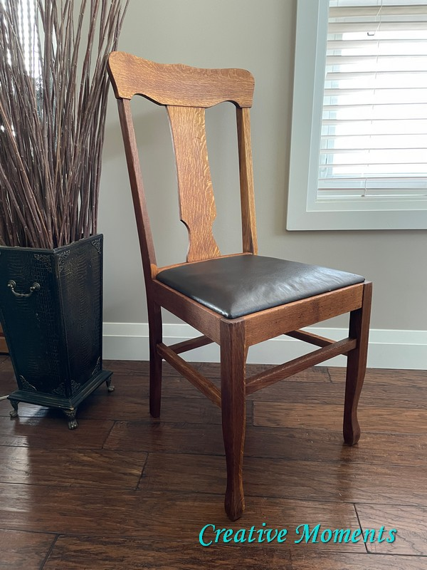 Painted chair makeover by Creative Moments, featured on New Upcycled Projects to Make 591!
