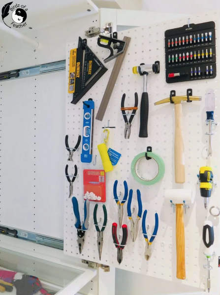 Sliding pegboard by Birdz of a Feather, featured on New Upcycled Projects to Make 592