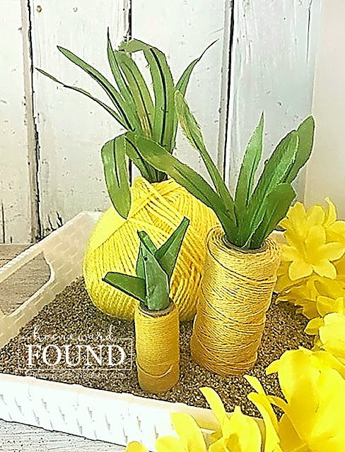 Yarn and twine pineapples by Homeward Found, featured on New Upcycled Projects To Make 590