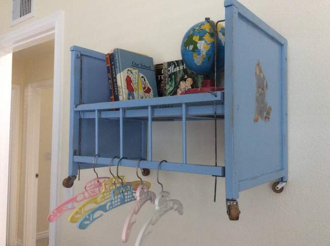 Doll bed shelf by Fresh Vintage by Lisa S, featured on New Upcycled Projects To Make 590
