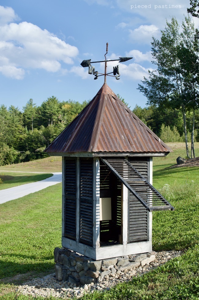 DIY vintage cupola with tin roof and shutters by Pieced Pastimes, featured on New Upcycled Projects to Make 595