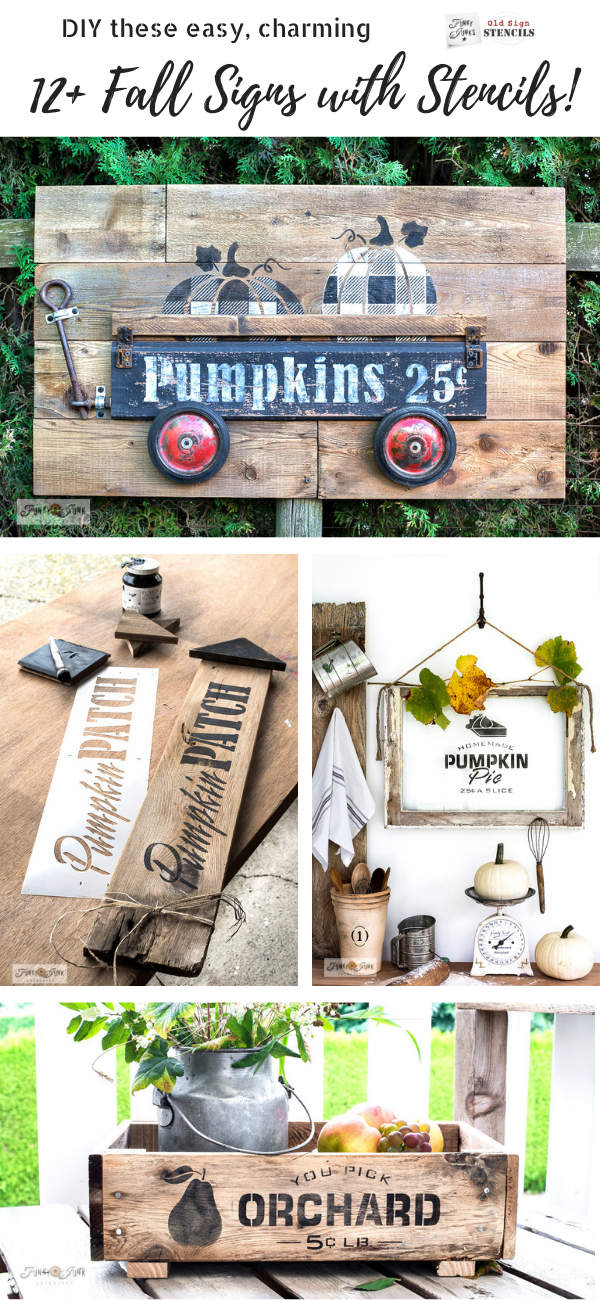 DIY these easy, charming 12+ Fall Signs with Stencils!