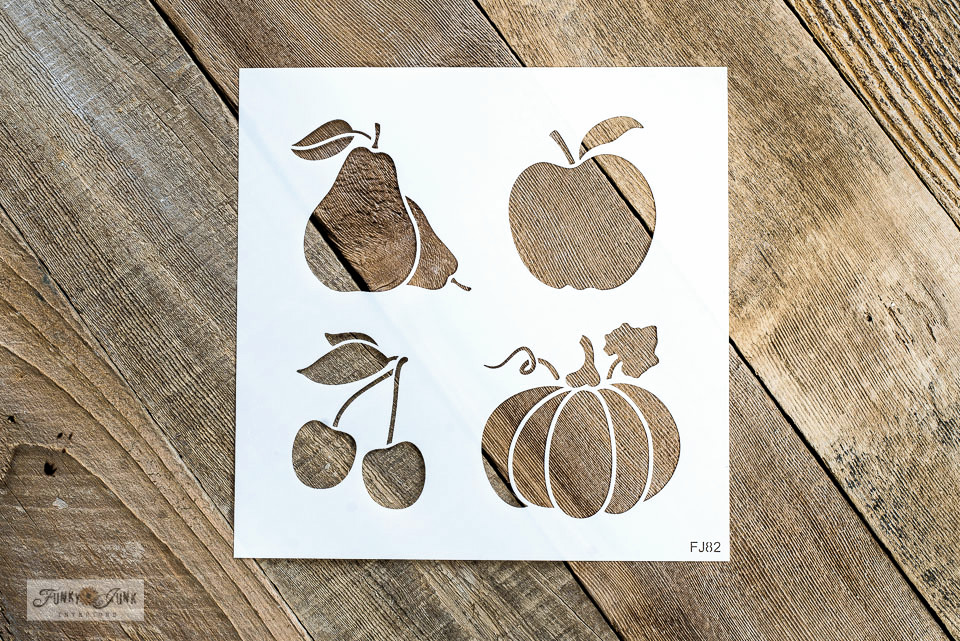 Fall Produce Graphics stencil from Funky Junk's Old Sign Stencils