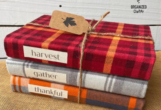 flannel book covers