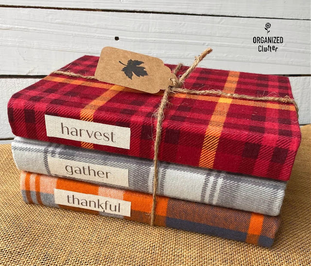 Flannel book covers by Organized Clutter, featured on New Upcycled Projects to Make 595