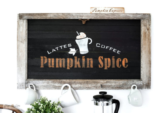 Pumpkin Spice fall sign with a window