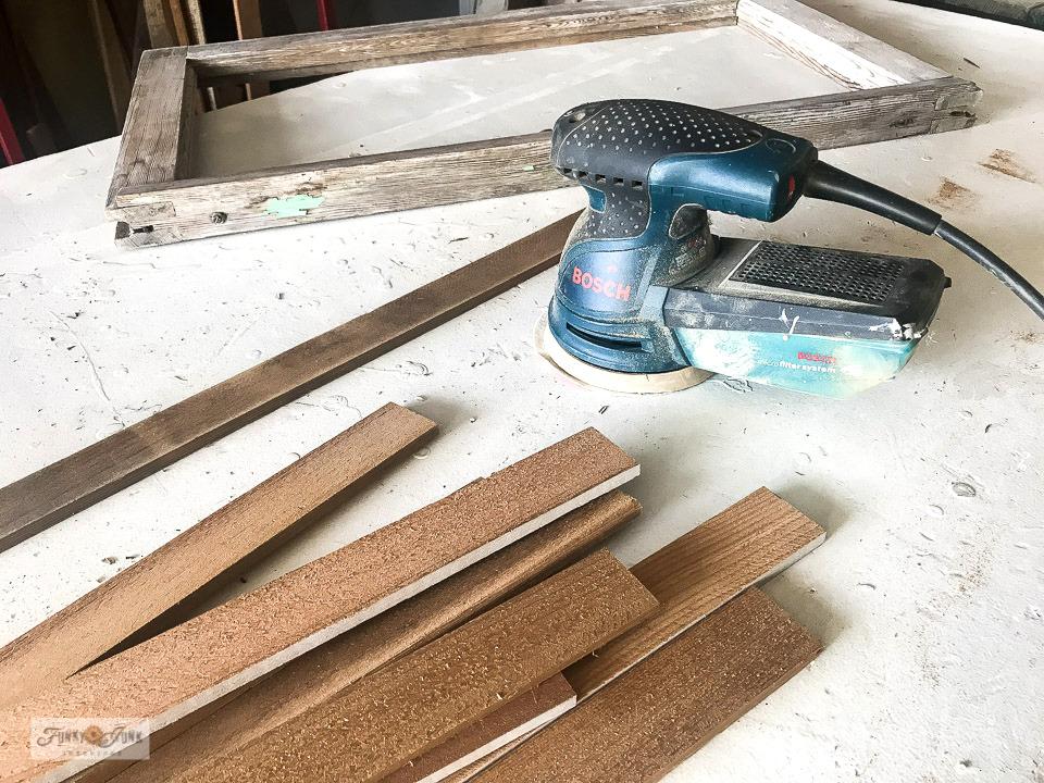 Preparing cedar strips for a Pumpkin Spice fall sign!