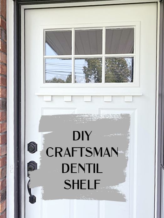 DIY Craftsman dentil moulding by Homeroad, featured on New Upcycled Projects to Make 596
