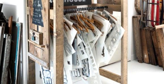 stencil storage rack