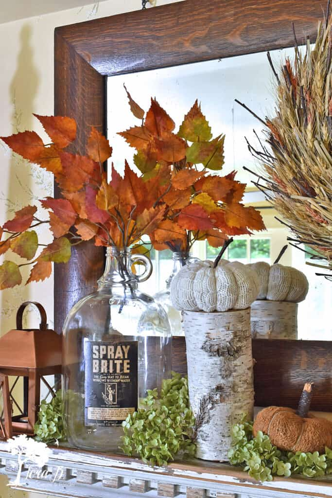 Fall decor with natural accents by Lora B, featured on New Upcycled Projects to Make 598