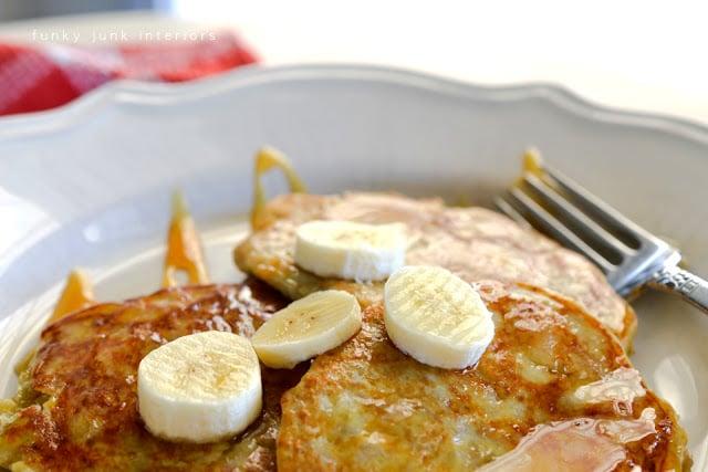 2 ingredient healthy pancakes via https://www.funkyjunkinteriors.net/
