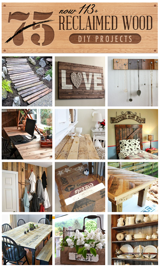 113+ Reclaimed Wood DIY Projects all in one clipboard!