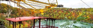 A spectacular fall ride on the Whirlpool Aero Car near Niagara Falls